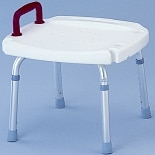 Nova Deluxe Shower Bench without Back 9120, with Red Safety Handle