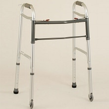 Nova Adult Folding Walker 3 inch Wheels 2 Button Adult 4090DW3-