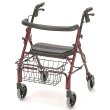 Cruiser Deluxe Junior Rolling Walker, Red