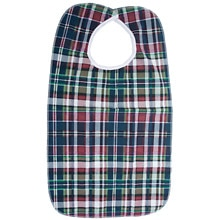Deluxe Patient Bib, Plaid