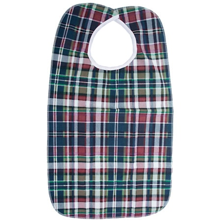 Essential Medical Deluxe Patient Bib Plaid