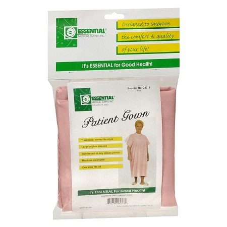 Essential Medical Patient Gown Pink