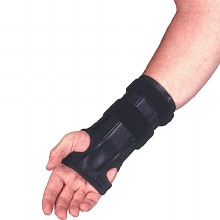 Elastic Cock-up Wrist Splint, Black, Reversible X-Small