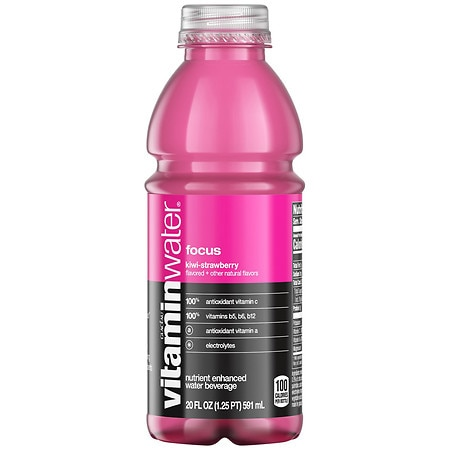 Glaceau Vitaminwater Nutrient Enhanced Beverage Bottle Kiwi-Strawberry