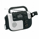 Jensen Self-Powered AM/FM/NOAA Weather Band Radio with Built-in Flashlight