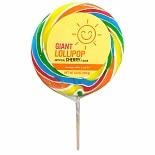 Sunny Smile Giant Lollipop Cherry Flavor