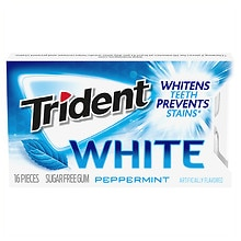 Trident White Sugar Free Gum Peppermint