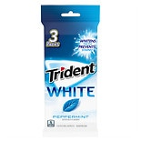 Trident White Sugar Free Gum 3 Pack Peppermint
