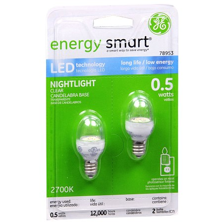 GE Energy Smart Light Bulbs 0.5 Watt Nightlight