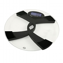 American Weigh Digital Glass Top Bathroom Scale Eng/Span