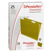 Pendaflex Essentials Hanging Folders Letter Size Green