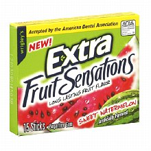Extra Fruit Sensations Sugarfree Gum Watermelon