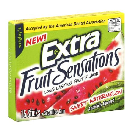 Wrigley's Extra Fruit Sensations Sugarfree Gum Watermelon