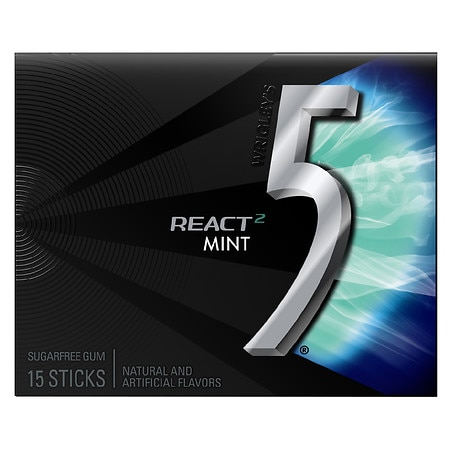 Wrigley's 5 Sugarfree Gum React Mint