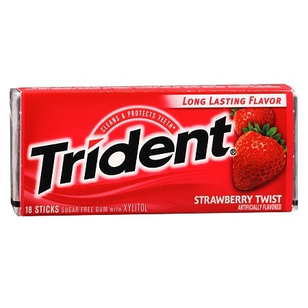 Trident Sugar Free Gum Strawberry Twist