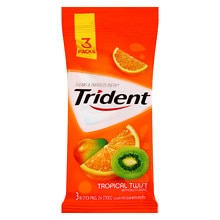 Trident Sugar Free Gum Tropical