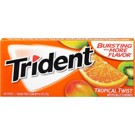 Trident Sugar Free Gum Tropical Twist