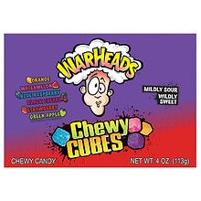 WarHeads Sour Chewy Cubes Assorted Flavors