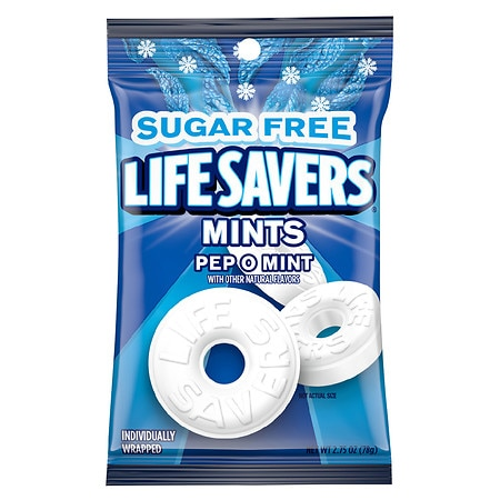 LifeSavers Sugar Free Mints Pep O Mint