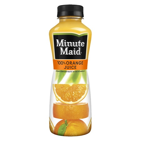 Minute Maid 100% Orange Juice Bottle