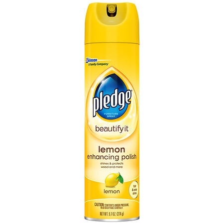 Pledge Furniture Spray Lemon Clean Walgreens