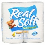 Real Soft Bathroom Tissue 4 Rolls