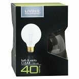 Living Solutions Light Bulb Clear 40 Watt Bath and Vanity