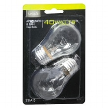 Living Solutions Light Bulbs Clear 40 Watt Appliance & Fan