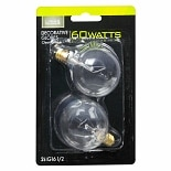 Living Solutions Light Bulbs Clear 60 Watt Decorative Globes