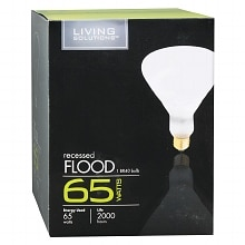 Light Bulb 65 Watt Recessed Flood, BR40