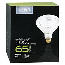 Living Solutions Light Bulb 65 Watt Outdoor Security