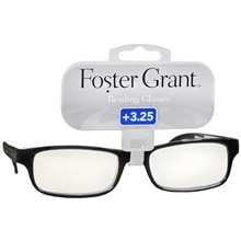 Foster Grant Plastic Reading Glasses Brandon +3.25 Black