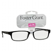 Foster Grant Plastic Reading Glasses Brandon +2.75 Assorted Colors