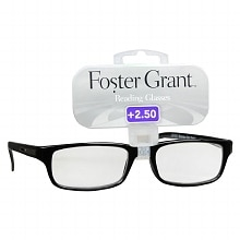 Foster Grant Plastic Reading Glasses Brandon +2.50 Assorted Colors