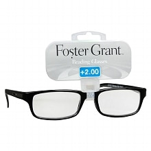 Foster Grant Plastic Reading Glasses Brandon +2.00 Assorted Colors