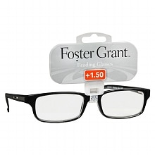 Foster Grant Plastic Reading Glasses Brandon +1.50 Assorted Colors