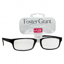Foster Grant Plastic Reading Glasses Brandon +1.25 Assorted Colors