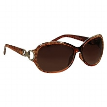 Foster Grant Fashion Plastic Sunglasses Latte Tortoise/Gold