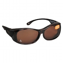 Solar Shield Fits Over Plastic Sunglasses Fashion Large Brown