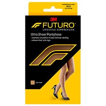 FUTURO Energizing Women's Mild French Cut Lace Panty Ultra Sheer Pantyhose Medium