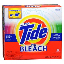 Tide Ultra Laundry Detergent plus Bleach Powder Original Scent