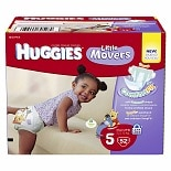 Huggies Little Movers Diapers, Big Pack Size 5, 52 ea