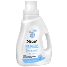 Nice! 2X Ultra Laundry Detergent Liquid Free & Clear