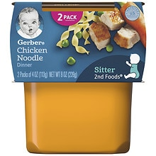 Gerber Nature Select 2nd Foods Nutritious Dinner Baby Food 2 Pack Chicken Noodle