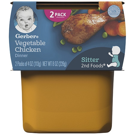 Gerber Nature Select 2nd Foods Nutritious Dinner Baby Food 2 Pack Vegetable Chicken