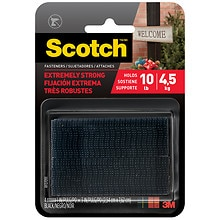 Scotch Heavy-Duty Velcro Fasteners, Black