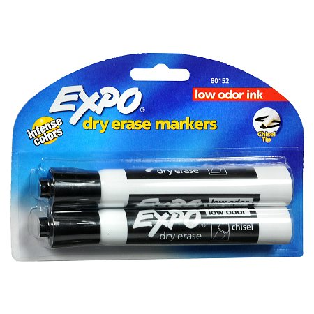 Expo Dry Erase Markers Chisel Tip Black