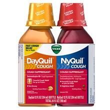 Vicks Dayquil Nyquil Cough Relief Combo Pack, Liquid 2-12 oz Bottles