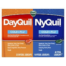 Vicks DayQuil NyQuil Cold & Flu Relief LiquiCaps