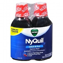 NyQuil Cold & Flu Relief Liquid 2 Pack, Cherry